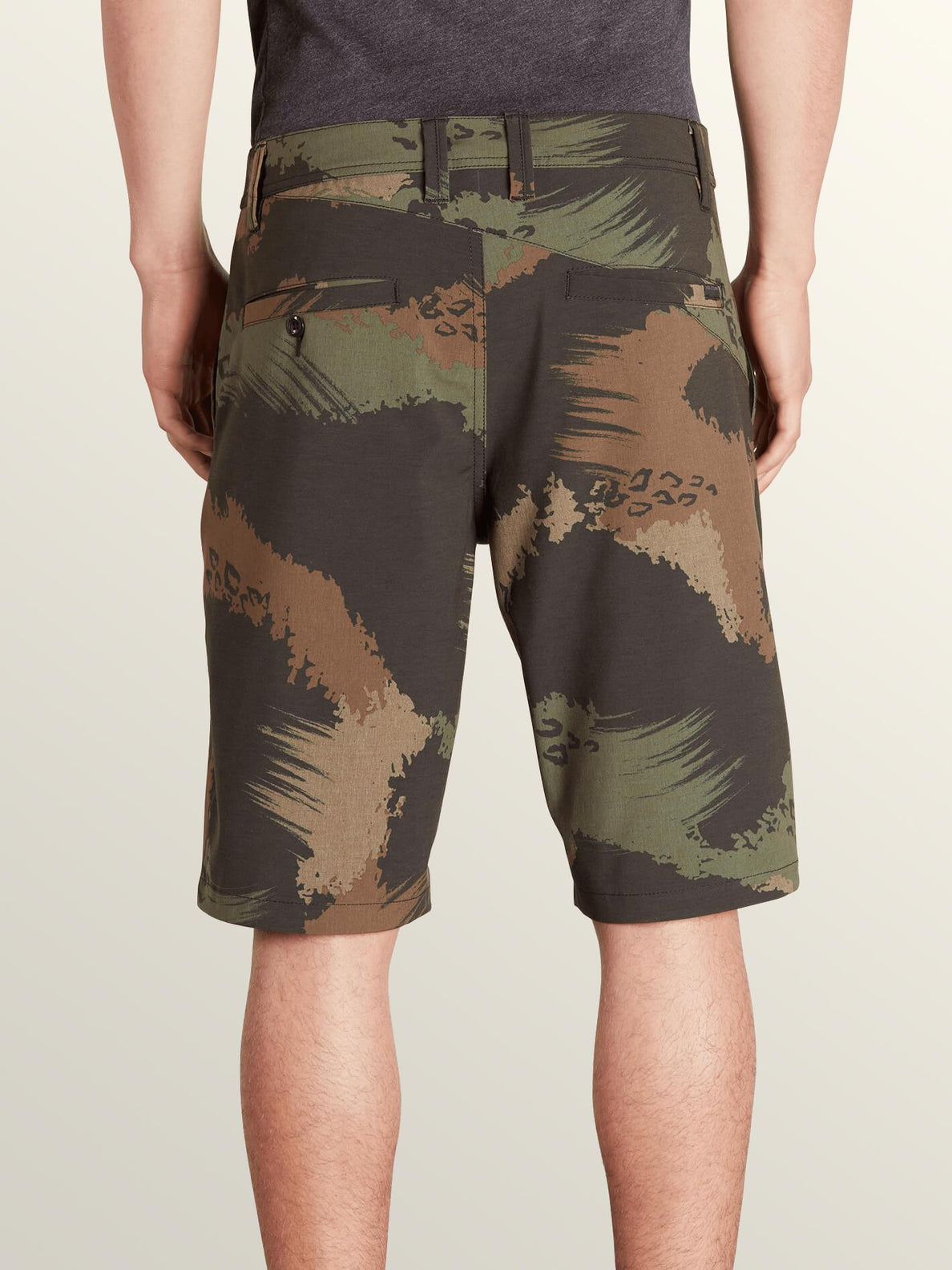 Frickin Surf N' Turf Mix Hybrid Shorts In Camouflage, Back View