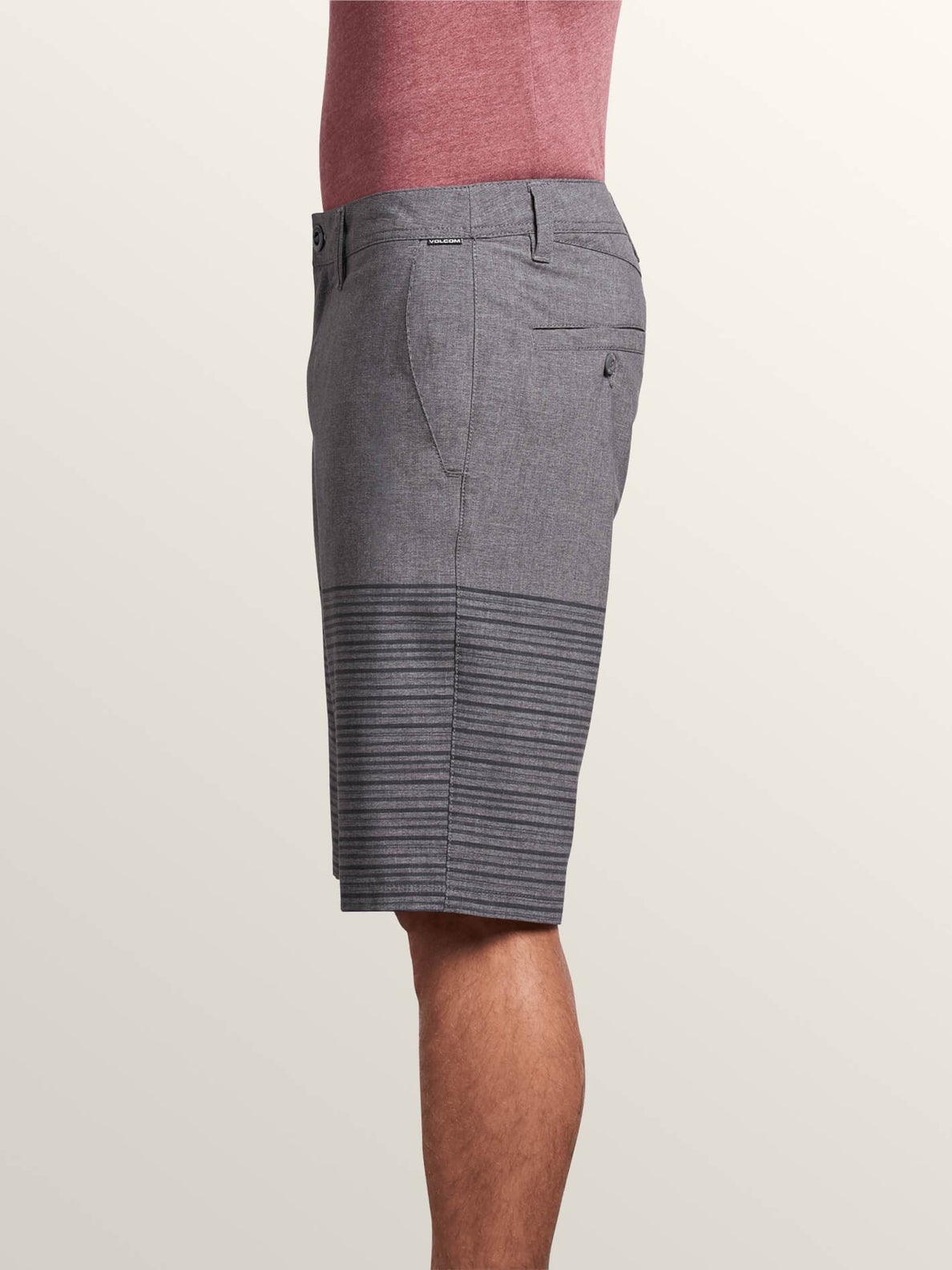 Frickin Surf N' Turf Mix Hybrid Shorts In Charcoal Heather, Alternate View