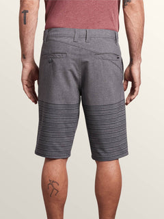 Frickin Surf N' Turf Mix Hybrid Shorts In Charcoal Heather, Back View