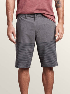 Frickin Surf N' Turf Mix Hybrid Shorts In Charcoal Heather, Front View