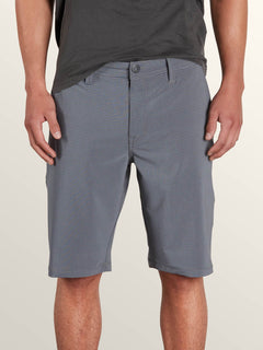 Frickin Surf N' Turf Mix Hybrid Shorts In Deep Blue, Front View