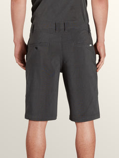 Frickin Surf N' Turf Mix Hybrid Shorts In New Black, Back View