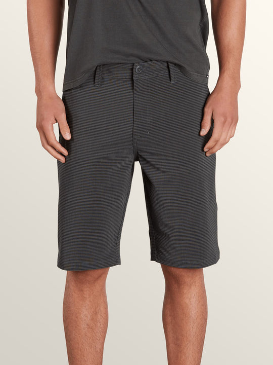 Frickin Surf N' Turf Mix Hybrid Shorts In New Black, Front View