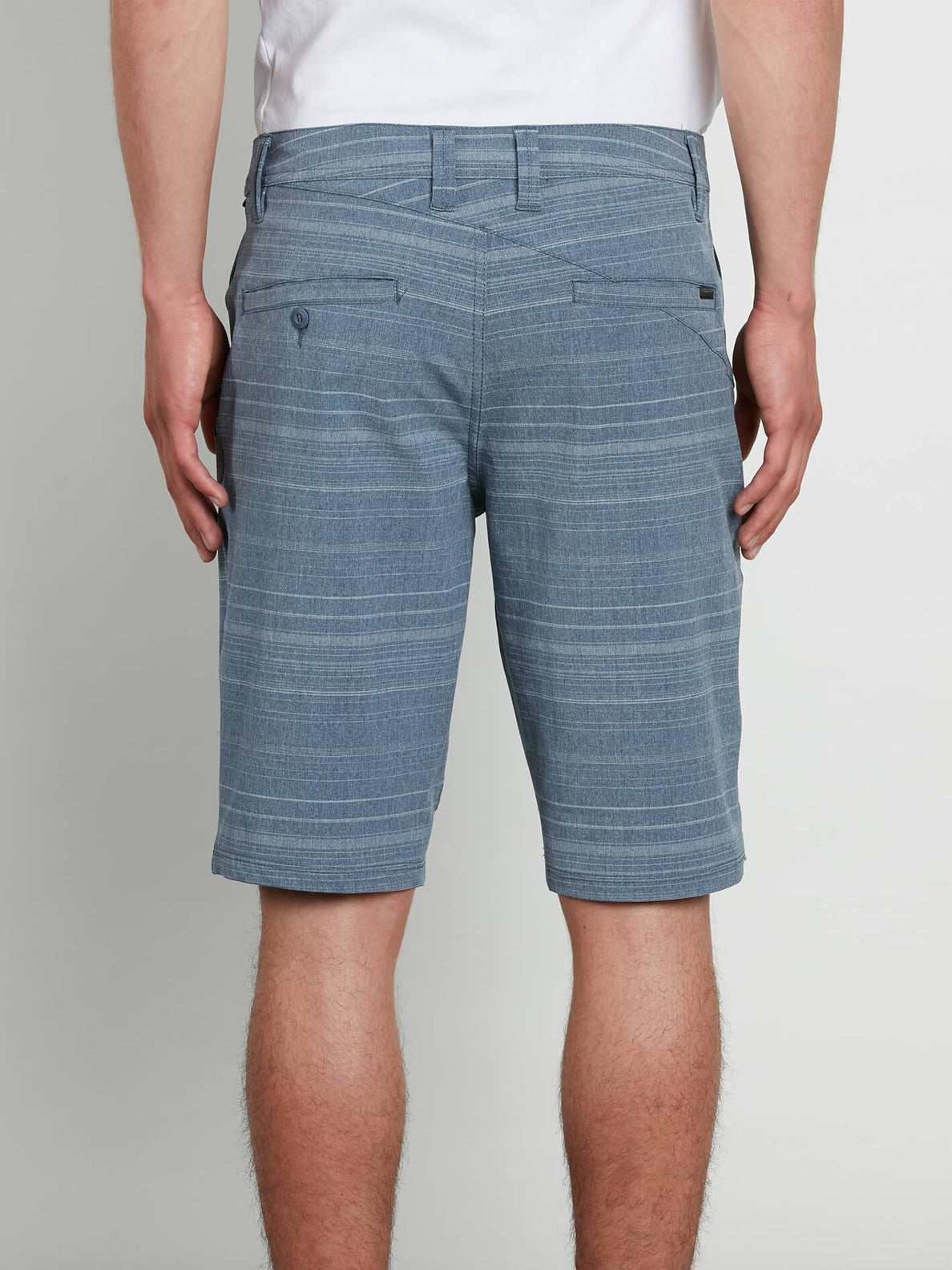 Frickin Surf N' Turf Mix Hybrid Shorts In Service Blue, Back View