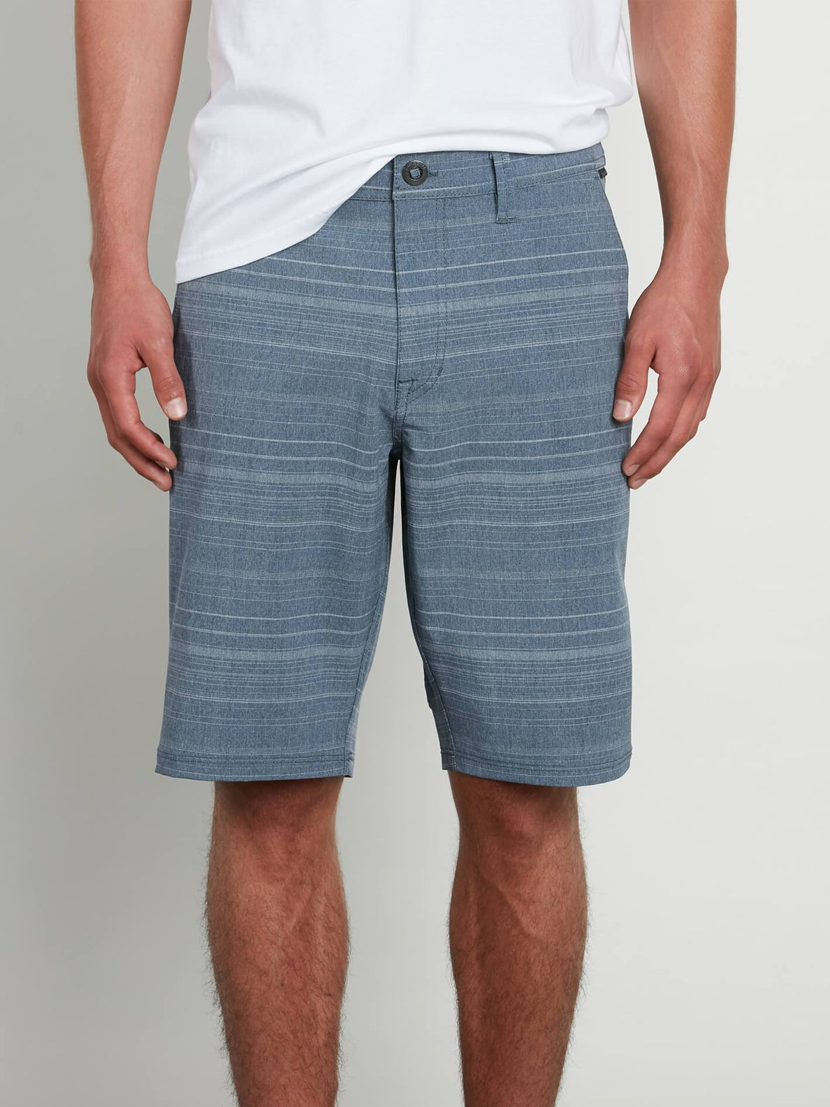 Frickin Surf N' Turf Mix Hybrid Shorts In Service Blue, Front View