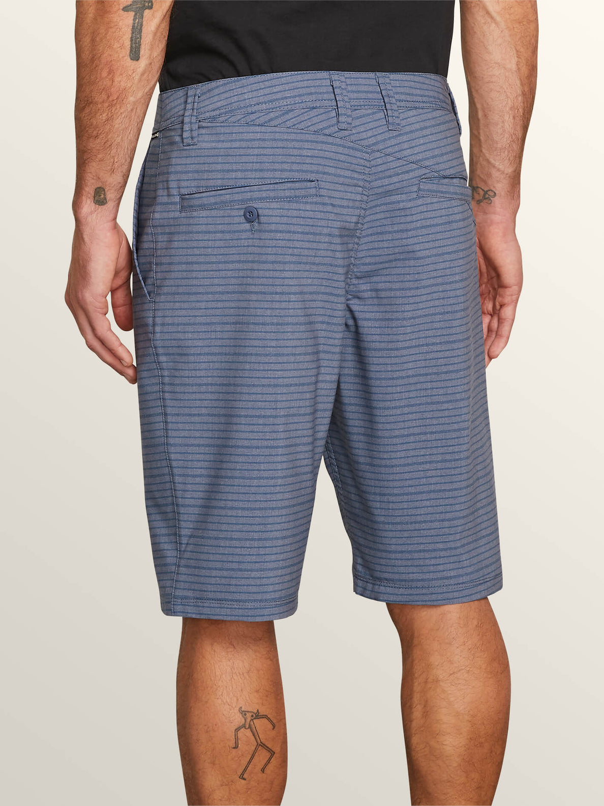 Frickin Surf N' Turf Mix Hybrid Shorts In Snow Vintage Navy, Alternate View