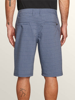 Frickin Surf N' Turf Mix Hybrid Shorts In Snow Vintage Navy, Back View