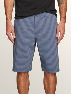 Frickin Surf N' Turf Mix Hybrid Shorts In Snow Vintage Navy, Front View