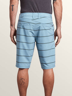 Frickin Surf N' Turf Mix Hybrid Shorts In Wrecked Indigo, Back View