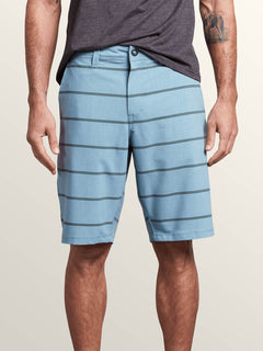 Frickin Surf N' Turf Mix Hybrid Shorts In Wrecked Indigo, Front View