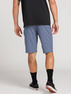 Frickin Surf N' Turf Static Hybrid Shorts In Deep Blue, Back View