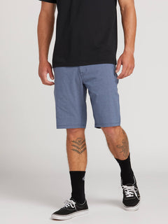 Frickin Surf N' Turf Static Hybrid Shorts In Deep Blue, Front View