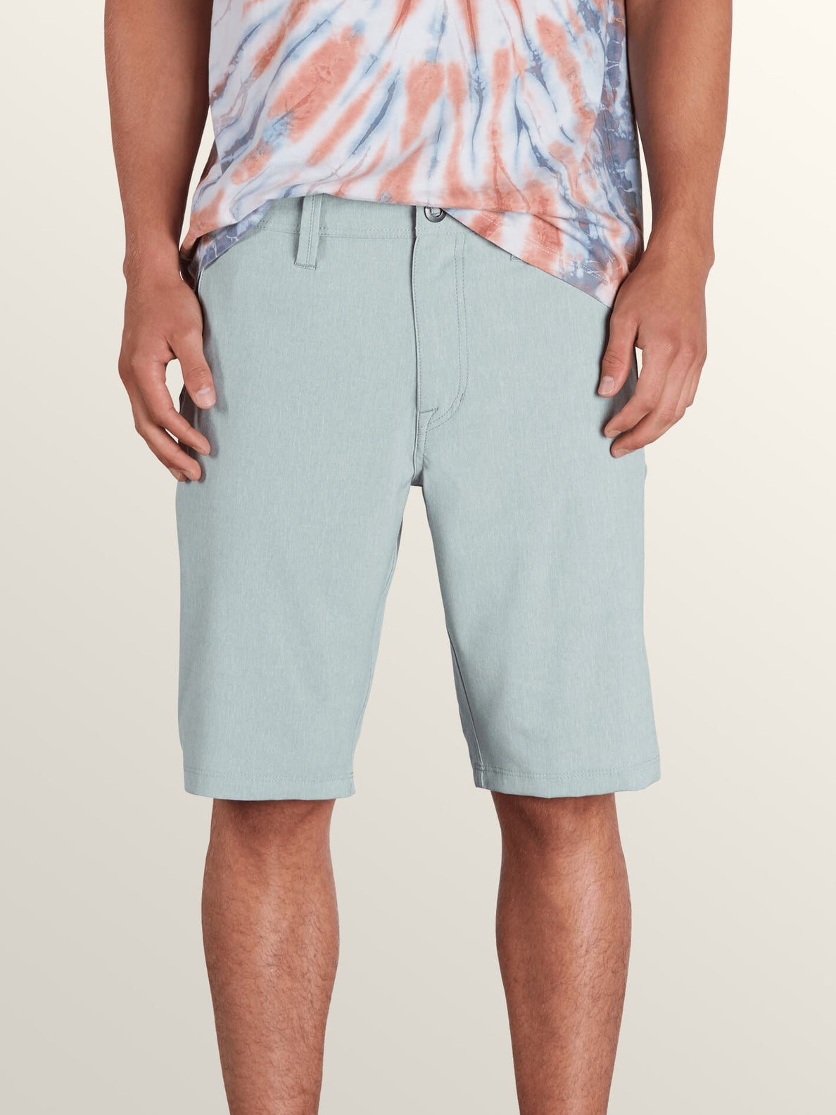 Frickin Surf N' Turf Static Hybrid Shorts In Lead, Front View