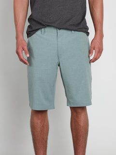 Frickin Surf N' Turf Static 2 Hybrid Shorts In Sage, Front View