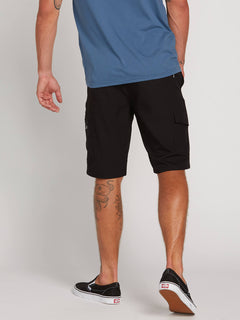 Surf N' Turf Dry Cargo Hybrid Shorts In Blackout, Back View