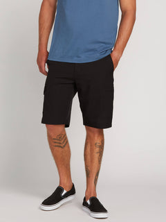 Surf N' Turf Dry Cargo Hybrid Shorts In Blackout, Front View