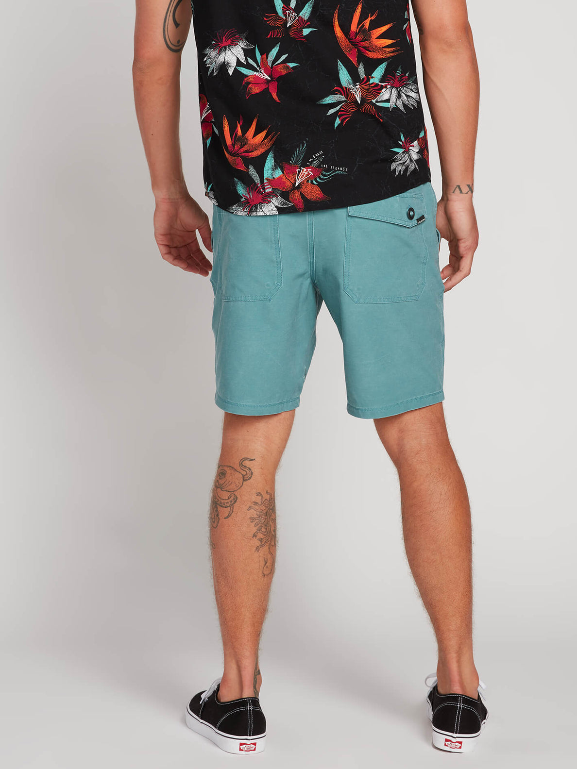 Surf N' Turf Faded Hybrid Shorts - Agave (A3211903_AGV) [2]