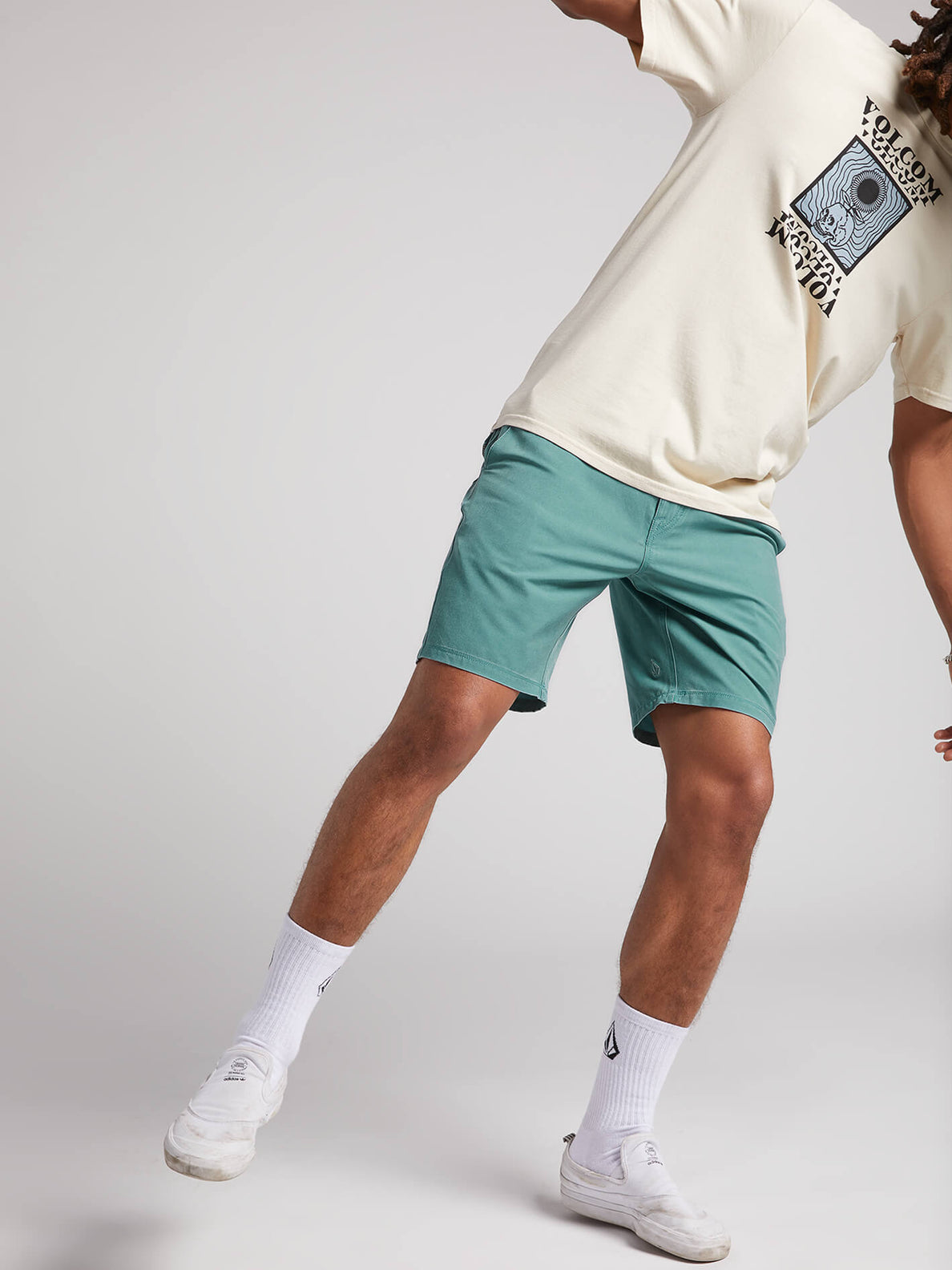 Surf N' Turf Faded Hybrid Shorts - Agave (A3211903_AGV) [7]
