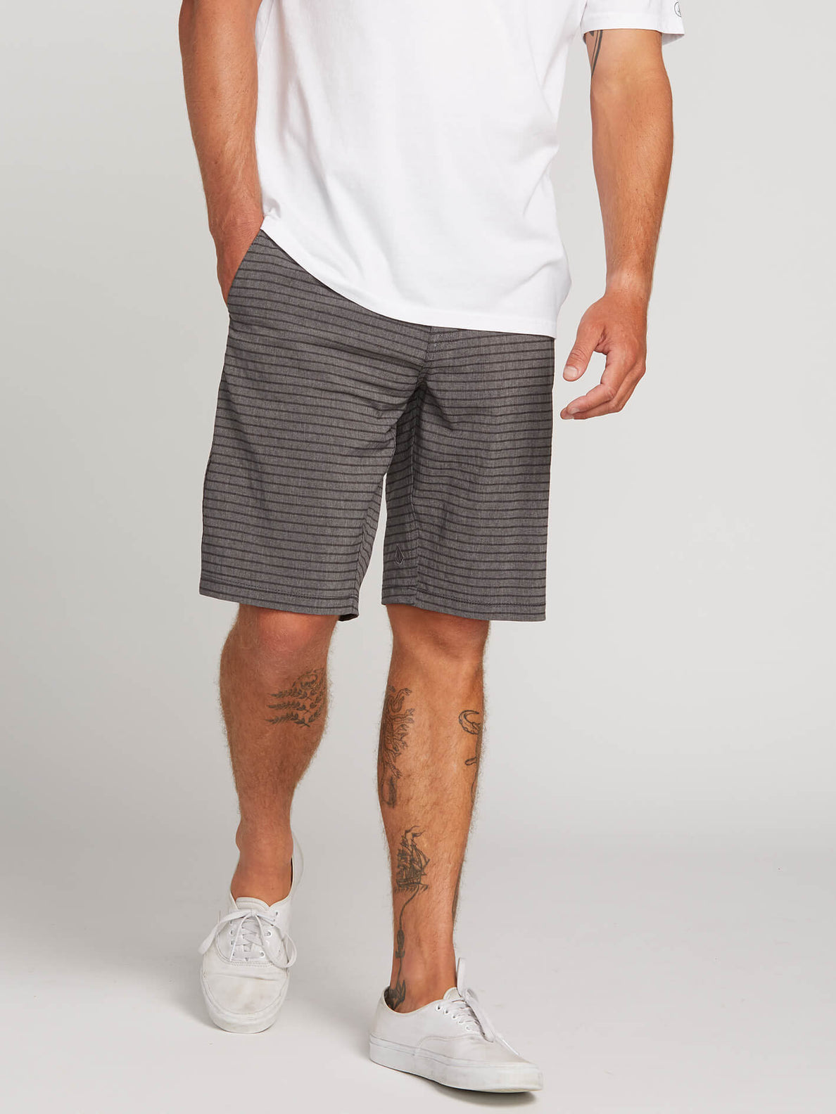 04543d019b Frickin Surf N' Turf Mix Hybrid Shorts In Charcoal Grey, ...