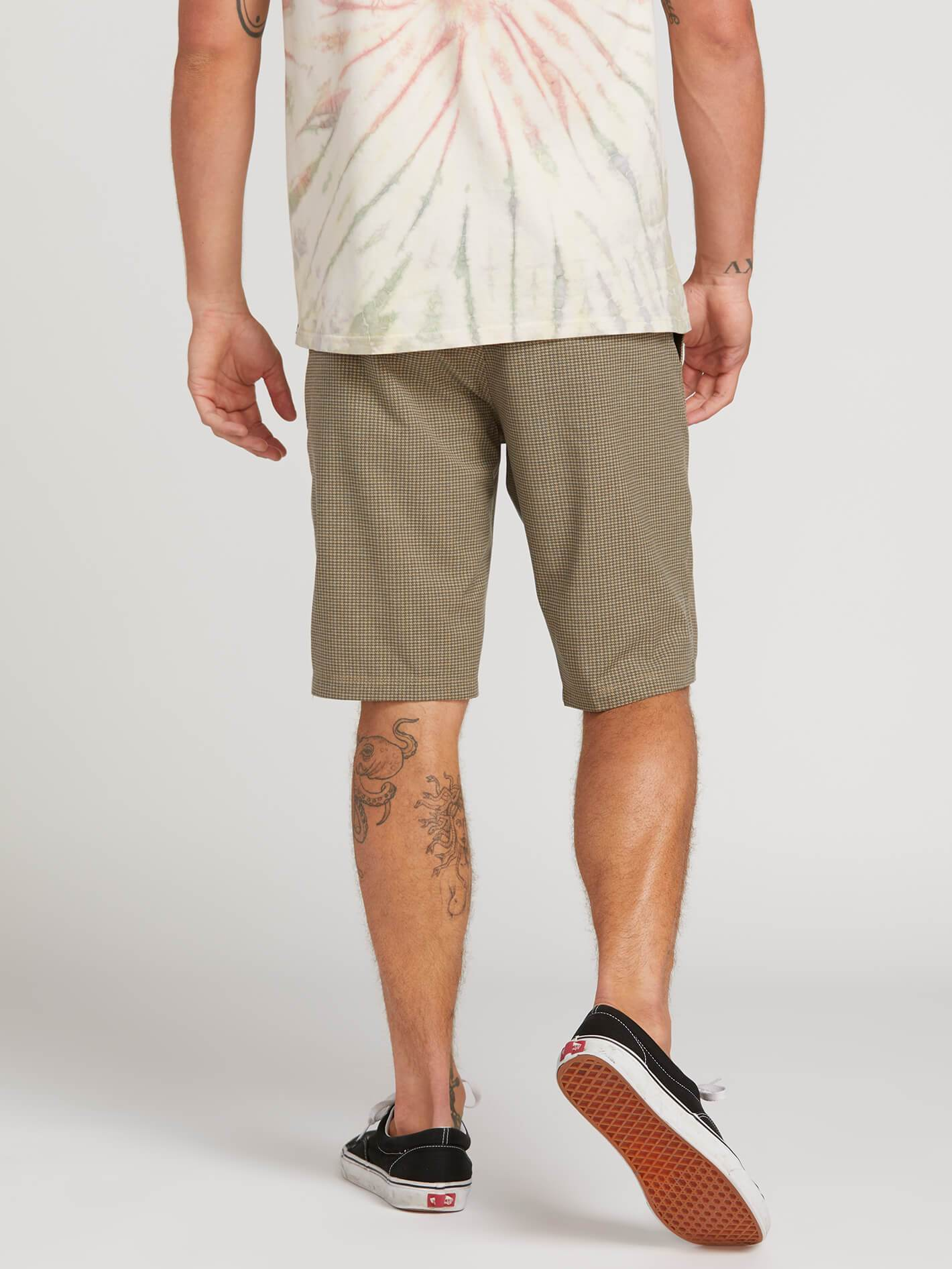ce00cd62bd Frickin Surf N' Turf Mix Hybrid Shorts - Mushroom in MUSHROOM - Alternative  View