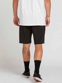 Stone Lite Hybrid Shorts In Black, Back View