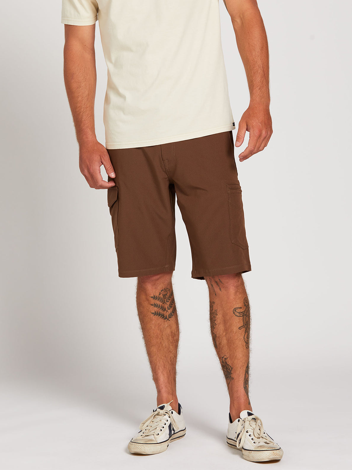 Surf N' Turf Dry Cargo Hybrid Shorts - Vintage Brown (A3212004_VBN) [1]