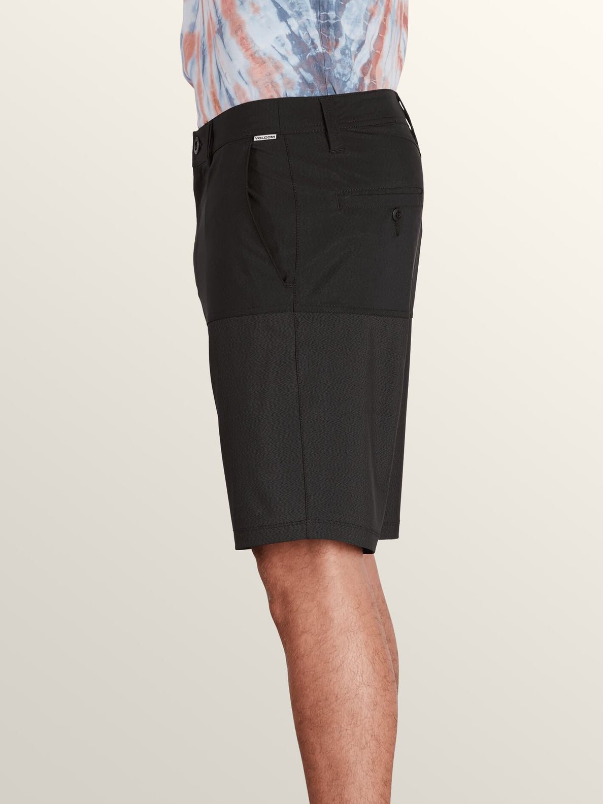Surf 'N Turf Hybrid Block Hybrid Shorts In Black, Alternate View