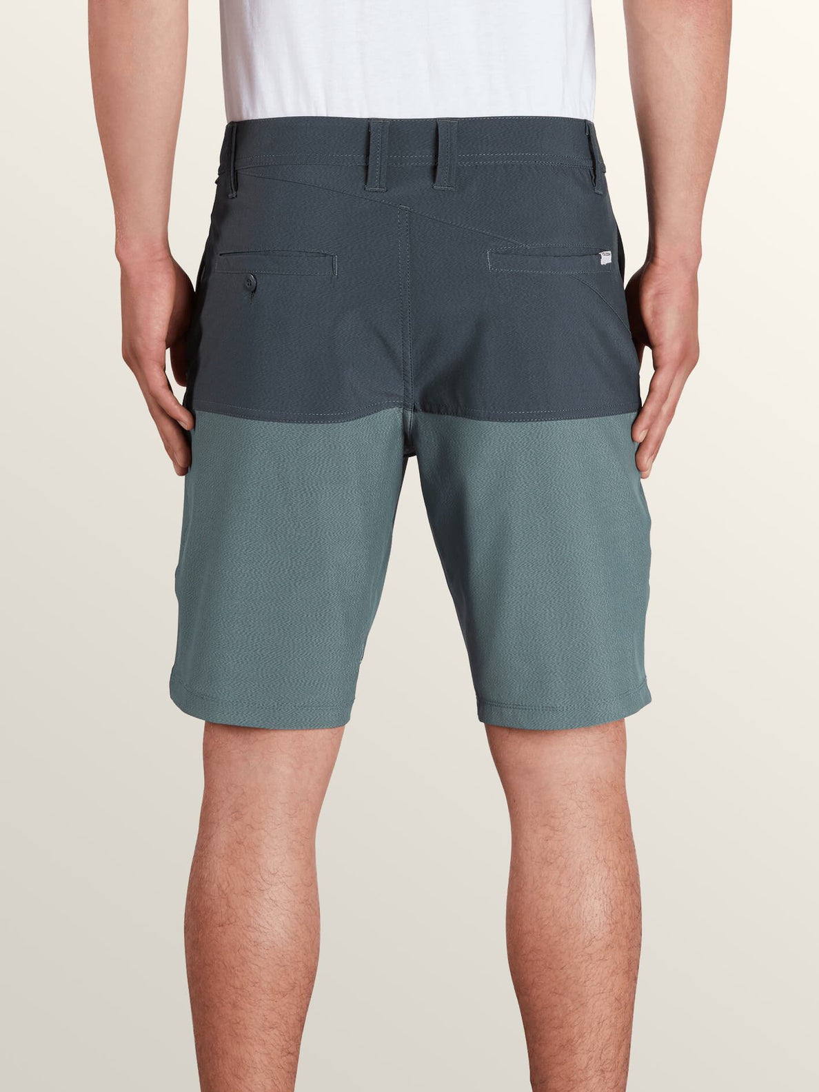 Surf 'N Turf Hybrid Block Hybrid Shorts In Lead, Alternate View