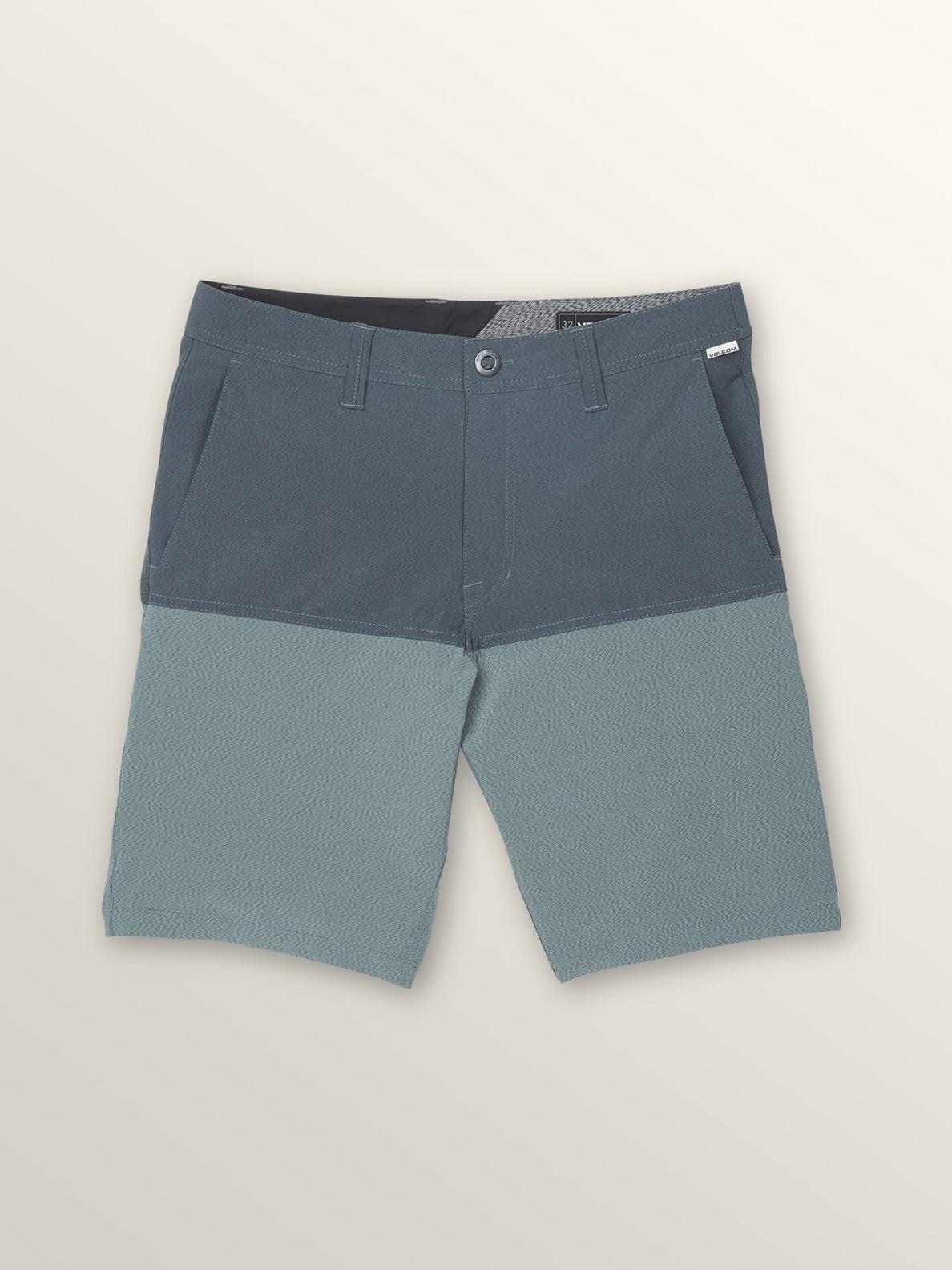 Surf 'N Turf Hybrid Block Hybrid Shorts In Lead, Second Alternate View