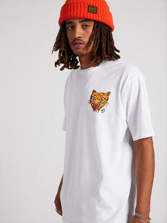 Ozzie Tiger Short Sleeve Tee In White, Alternate View
