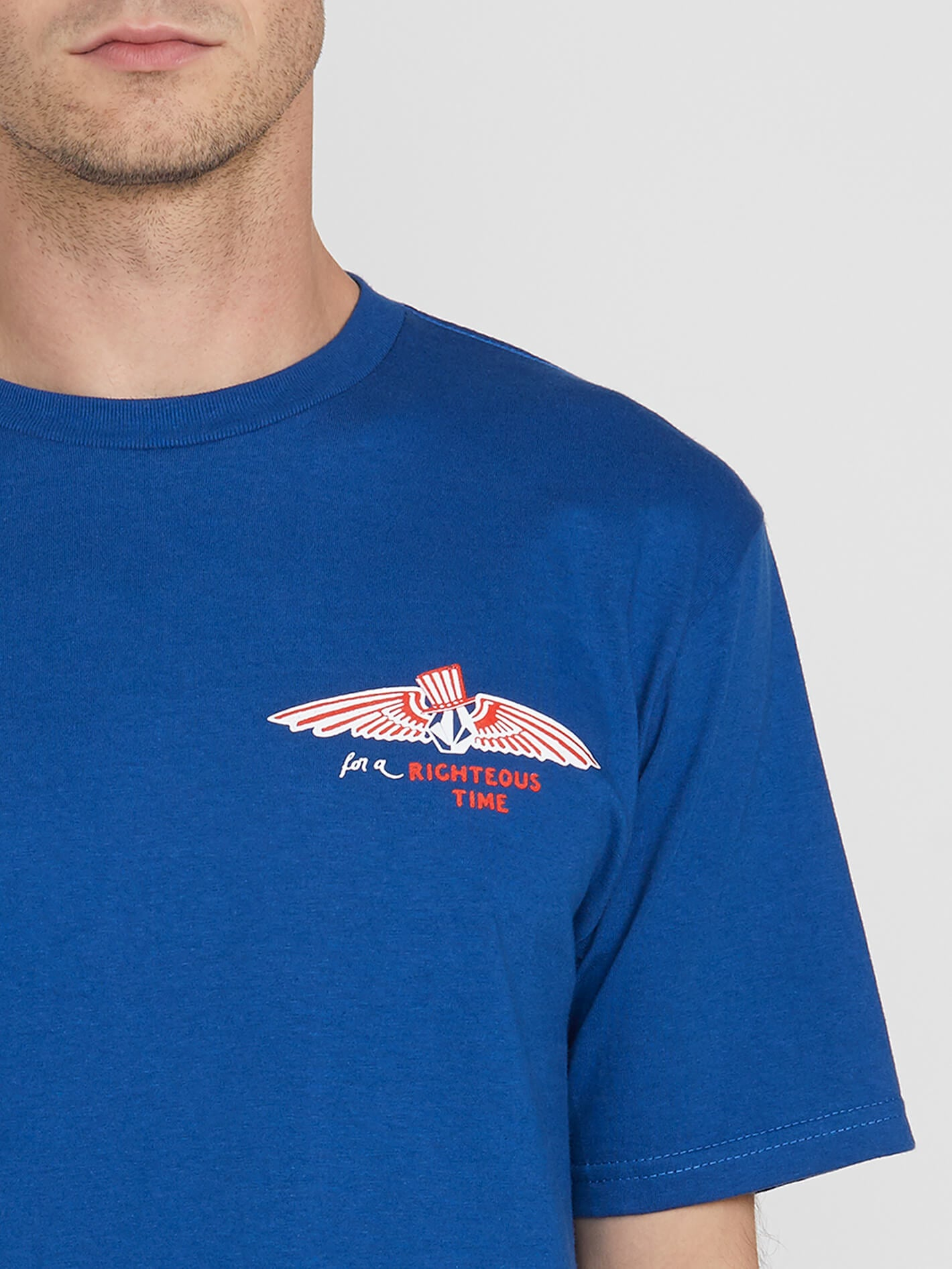 03452df1 You're Volcom Short Sleeve Tee in CAMPER BLUE - Alternative View