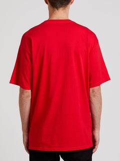 Crisp Stone Short Sleeve Tee - Red (A3511800_RED) [B]