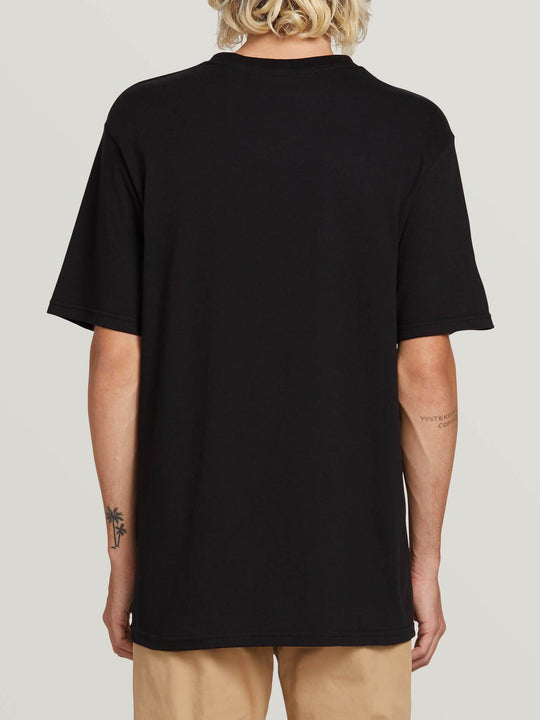 Crisp Euro Short Sleeve Tee In Black, Back View