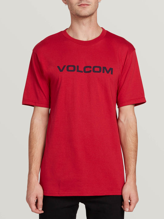 Crisp Euro Short Sleeve Tee - Engine Red