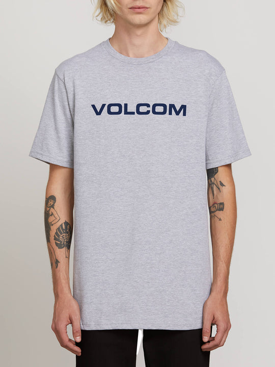 Crisp Euro Short Sleeve Tee - Heather Grey