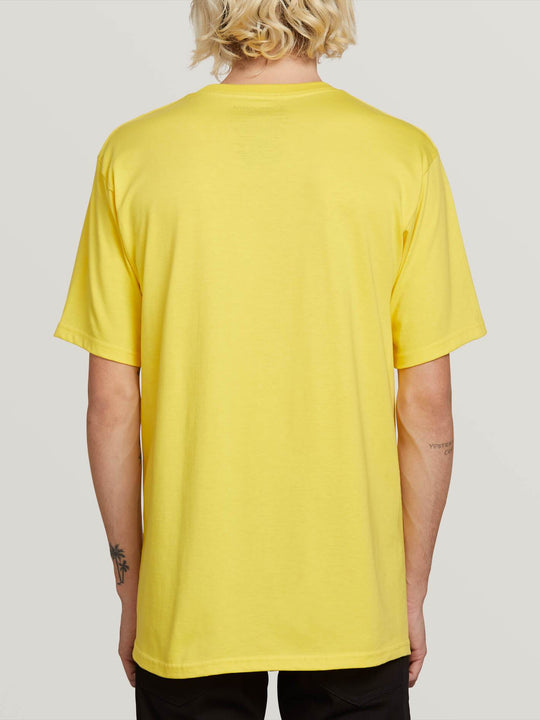 Crisp Euro Short Sleeve Tee In True Yellow, Back View