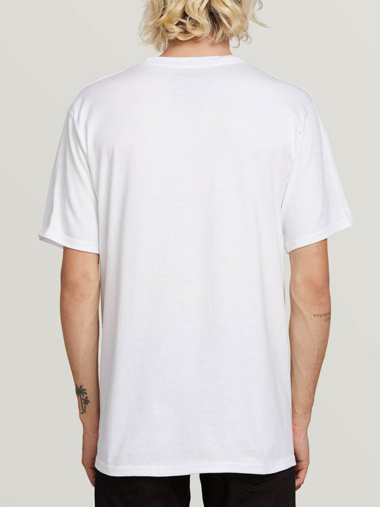 Crisp Euro Short Sleeve Tee In White, Back View