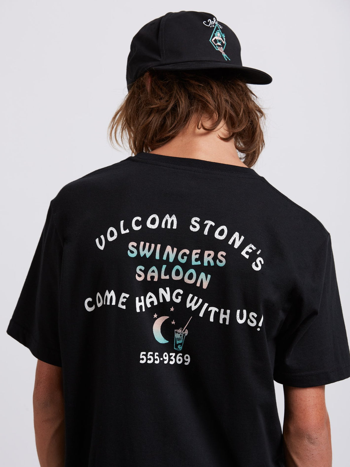 Swingers Saloon Tee In Black, Second Alternate View