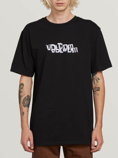 Computer Crash Short Sleeve Tee In Black, Front View