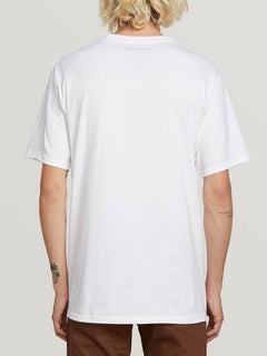 Computer Crash Short Sleeve Tee In White, Back View