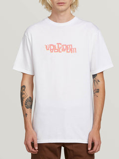 Computer Crash Short Sleeve Tee In White, Front View