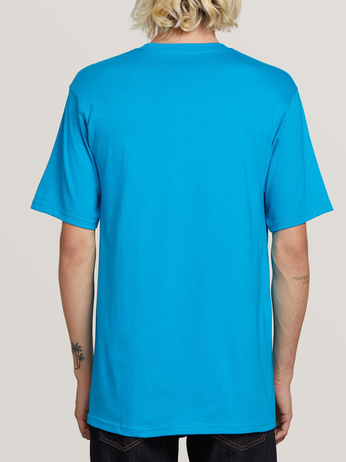 Super Clean Short Sleeve Tee In Bright Blue, Back View