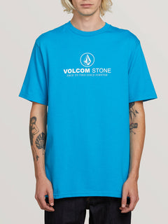 Super Clean Short Sleeve Tee In Bright Blue, Front View