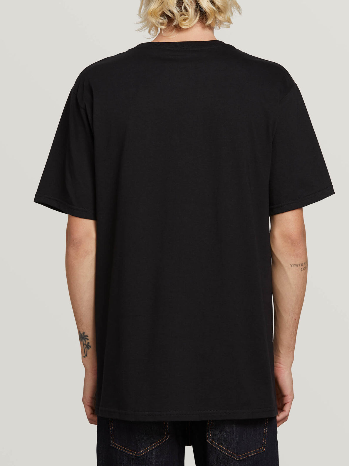 Super Clean Short Sleeve Tee In Black, Back View