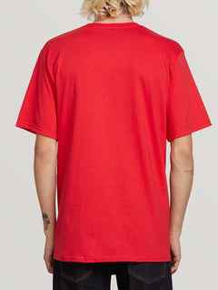 Super Clean Short Sleeve Tee In True Red, Back View