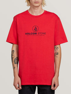 Super Clean Short Sleeve Tee In True Red, Front View