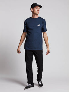 Lopez Web Short Sleeve Tee In Navy, Alternate View