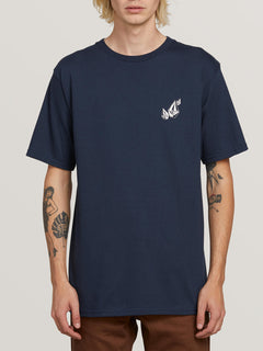 Lopez Web Short Sleeve Tee In Navy, Front View