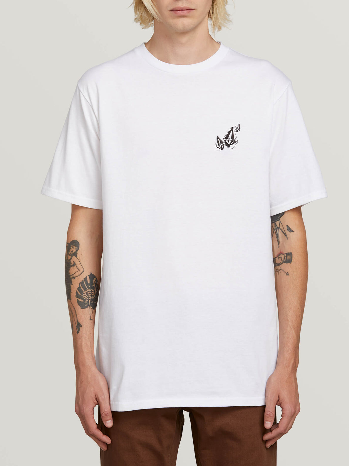 Lopez Web Short Sleeve Tee In White, Front View
