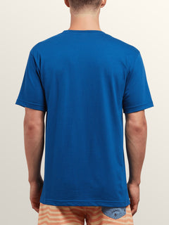 Same Difference Short Sleeve Tee In Camper Blue, Back View